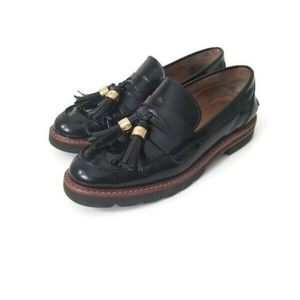 Stuart Weitzman moccassins loafers black sz 5.5